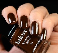 Londontown Lakur Fall - Pence by the Pound Brown Nail Polish, Neutral Nail Polish, New Nail Polish, Nail Polish Bottles, Brown Nails, Nail Polish Colors, White Glitter Nails, Nail Hardener, Nail Plate