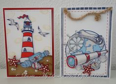 Two nautical themed cards