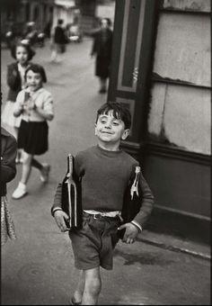 Rue Mouffetard, Paris, 1954 by Henri Cartier-Bresson
