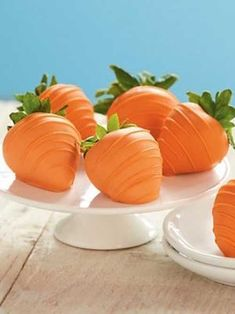Recipe for Easter Carrots - Disguise sweet strawberries as bunny-friendly carrots for a fun treat table addition.