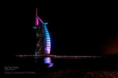 Burj Al Arab - night photo - When construction began on the private island upon which Burj Al Arab would be built Dubai was a very different place. In the late 1990s the rapid pace of construction which developed one of the worlds most impressive skylines was just in its very early stages and as such the Burj Al Arab is regarded as one of the first key landmarks of modern Dubai. When opened in 1999 Burj Al Arab was advertised as the worlds first and only 7 star hotel offering a luxury…