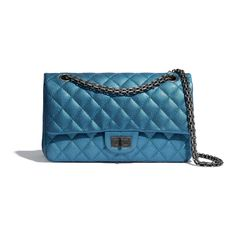 The Chanel Reissue Handbag Blue Metallic Sheepskin Shoulder Bag is a top 10 member favorite on Tradesy. 2.55 Chanel, Chanel Store, Chanel Black, Chanel Boy Bag, Chanel Handbags, Luxury Handbags, Tote Handbags, Boutiques, Chanel Reissue