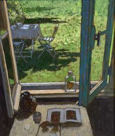 Mike Hall original 'View of Garden Table & Chair'