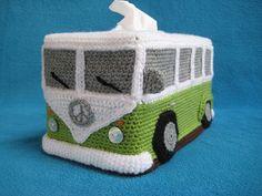 VW Wohnmobil Bus Tissue Box Cover häkeln MUSTER von Millionbells   € 6.73
