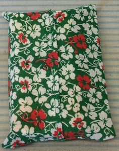 "White and Red Flowers Fabric ""Handmade"" Pocket Tissue Cover, Mother's day gift #Fabric"