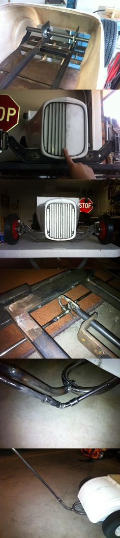 The middle! 32 ford roadster pedal car. Hot rod stroller. Tot rod.