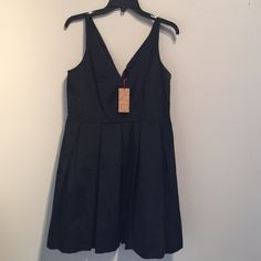 Zac Posen LBD Dress Black v-neck fit and flare dress. Beautiful dress. New with tags. Size 10 Zac Posen Dresses