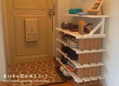 自作の下駄箱もペンキを塗ってみた! http://palette.blush.jp/self-reform/2013/08/post-51.html