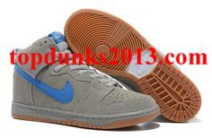 Low Price Grey Blue Yellow Sole New Nike Dunk Men High for Christmas Internet Sales