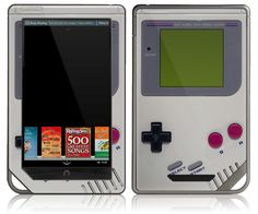 Very cool !!!NOOK Tablet Color Skin Cover  Gameboy by stickitskins on Etsy, $14.95 lol i just might try to get this cover