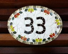 Número para apartamento em mosaico