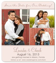 Our save the date magnet
