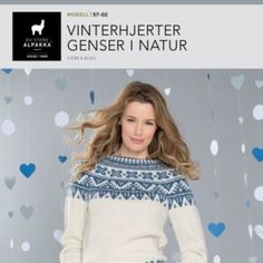 Vinterhjerter genser i natur Baby Barn, Crocheting, Knitwear, Free Pattern, Knit Crochet, Patterns, Knitting, Sweaters, Fashion