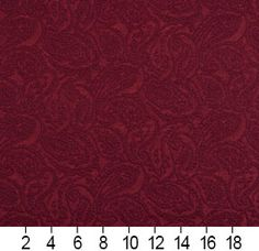 Burgundy or Red or Rust color Paisley pattern Brocade or Matelasse and Damask or Jacquard type Upholstery Fabric called K6683 WINE or PAISLEY by KOVI Fabrics