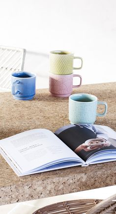 Tea time takes a retro twist with the Ocha collection of ceramics in fresh colours and contemporary patterns. Serveware, Tableware, Green Cushions, Kitchen Stuff, Mint Green, Tea Time, House Ideas, Mid Century, Colours