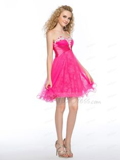 Charming A-line Sweetheart Beading Knee-length Homecoming Dress