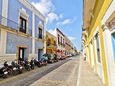 In downtown Campeche, cobbled street upon cobbled street of colorful colonial buildings fill a walled city by the sea.  Getty Images