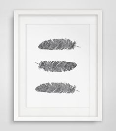 Feather Print Printable Feathers Bohemian by MelindaWoodDesigns, $5.00