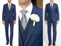 O primeiro noivo de terno azul que me lembro de ter saído aqui no nosso site foi o Louis Leeman (nr.1 na foto abaixo), que se casou com Erica Pelosini em C