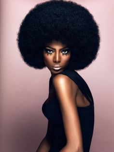 ...because i've never seen an afro so perfectly shaped!