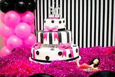 Resultado de imagem para festa de repente 30 preto e rosa