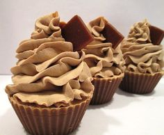 Warm Chocolate Cupcake Handmade Cold Process Cupcake Soap via Etsy Fall cupcake soaps!