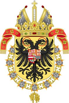 File:Coat of Arms of Charles V as Holy Roman Emperor, Charles I as King of Spain-Or shield variant. Royal Logo, Double Headed Eagle, Holy Roman Empire, Roman Emperor, Family Crest, Crests, Roman Catholic, Coat Of Arms, Middle Ages