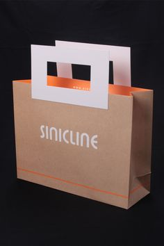 Kraft paper bag with handles #shoppingbag #kraftpaperbag #bagdesign  Browse more at @sinicline