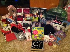 Photo No 360 - Santa Bounty (Dec I am one lucky girl, here are all my Christmas presents. Hope you've all had a great day. I now have a new 'challenge a year project' thanks to the Kirigami calendar from my sis. Lucky Girl, Kirigami, Have A Great Day, Christmas Presents, Lunch Box, Calendar, Santa, Thankful, Challenges