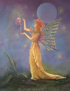 fairy faery fairies faeries fae fantasy 'Full_moon' flowers Dew Drop Fairy ©Judy MastrangeloDew Drop Fairy©