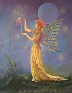fairy faery fairies faeries fae fantasy 'Full_moon' flowers Dew Drop Fairy ©Judy MastrangeloDew Drop Fairy©
