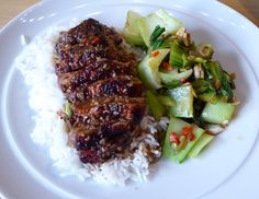 Honey-Glazed Duck with Asian Greens Suppers, Steak, Honey, Yummy Food, Asian, Simple, Dinners, Delicious Food, Food Dinners
