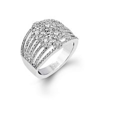 This astounding 14k white gold Blindingly Beautiful ring features 1.03 ctw of sparkling white round brilliant diamonds.