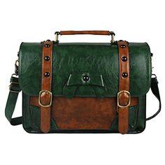 Ecosusi Brand New Vintage Designer Leder Umhängetasche Schule Messenger Handtasche (grün) Ecosusi.Inc http://www.amazon.de/dp/B00L32I2XG/ref=cm_sw_r_pi_dp_SvOTvb0H9F1NY