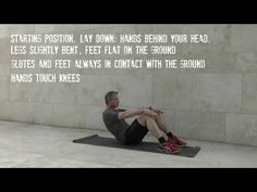 Instruction video on 'crunches' Crunches, Glutes, Exercises, Health Fitness, Positivity, Feelings, Youtube, Free, Classic