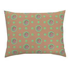 Campine Pillow Sham featuring Pin&Pon Popsolle by joancaronil | Roostery Home Decor