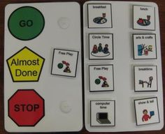 Termination Card w/Schedule Icons- help students pace themselves through activities Classroom Behavior, Autism Classroom, Special Education Classroom, Preschool Classroom, Speech Therapy Activities, Preschool Activities, Shape Activities, Autism Resources, School Resources