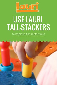 Use Lauri Tall-Stackers to help your toddler improve their fine motor skills with activities like pegging, stacking, balancing, geoboards, and more! Classic Toys, Building Toys, Fine Motor Skills, Fun Learning, Educational Toys, Activities, Shop, Motor Skills, Fine Motor