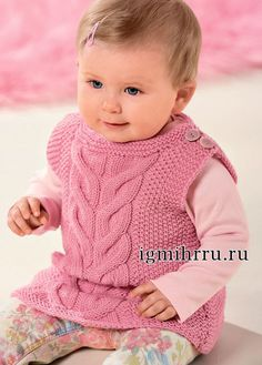 from Сабрина baby 2016 02 Knitting For Kids, Baby Knitting, Crochet Baby, Knit Crochet, Crochet Fashion, Kids Wear, Baby Kids, Flower Girl Dresses, Clothes
