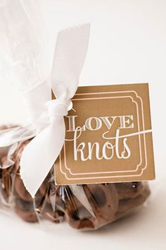 "Sweet ""love knots"" included in welcome bags for a sweet San Diego wedding I Custom by Nico and Lala"