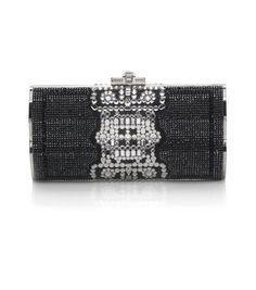 Judith Leiber: Barrymore Crystal Baguette Minaudiere- love the different shapes used