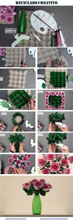Infographic Cómo hacer un ramo de flores con hueveras de cartón https://www.youtube.com/watch?v=B4F02yhlrNE