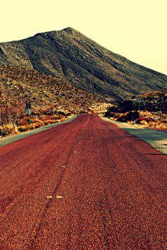 The drive through the Franklin Mountains - El Paso, TX