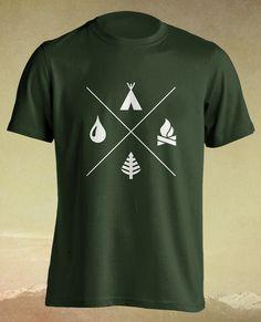 Boy Scout Camping Explorer Gift Tshirt T shirt Tee door ElephanTees