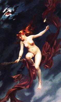 'The Witches Sabbath'- Luis Ricardo Falero, 1880