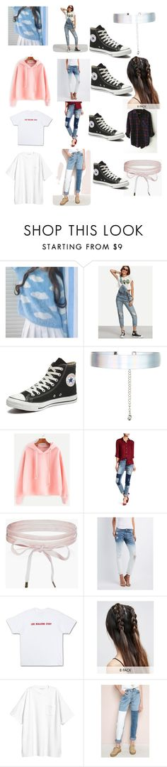 """Untitled #331"" by ninakrosell on Polyvore featuring Converse, Accessorize, Nanette Lepore, Boohoo, Refuge, ASOS, H&M and Kenzo"