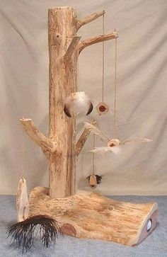 Cats Toys Ideas - Cedar Cat Scratching Post - Style 6 - Ideal toys for small cats Diy Cat Tree, Cat Towers, Ideal Toys, Cat Scratching Post, Cat Enclosure, Cat Room, Cat Condo, Cat Accessories, Small Cat
