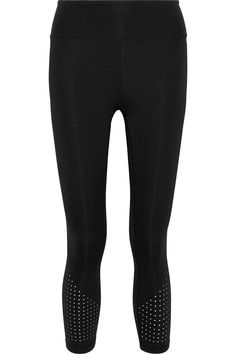 Shop on-sale Bonnie cropped perforated stretch leggings. Browse other discount designer Leggings & more luxury fashion pieces at THE OUTNET Leggings Sale, Beachwear Fashion, Stylish Sunglasses, Popular Dresses, Free Clothes, Jacket Dress, Latest Trends, Luxury Fashion, Fashion Outfits