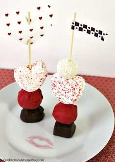 See how easy it is to make your own dessert skewers for Valentine's day