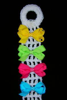 Crochet bow holder